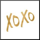 Romantic Icon I (gold foil)