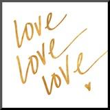 Love Love Love (gold foil)