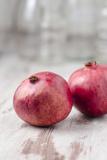 Two Pomegranates  Close-Up