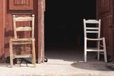 Greece  Crete  Canea  Driveway  Two Chairs