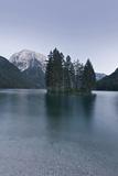 Italy  Julische Alps  Lake  Lago Del Predil  Predilsee  Island