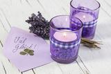 Lavender  Blossoms  Envelope  Four-Leafed Clover  Candles