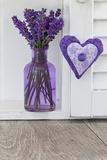 Lavender  Blossoms  Vase  Heart