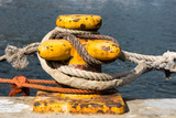 South Africa  Houtbay  Harbour  Bollard with Ropes