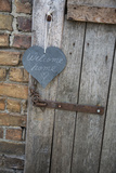 Lettered Slate Heart  Old Door  'Welcome Home'