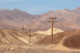 USA  Death Valley National Park  Power Poles