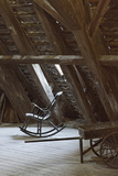 Rocking Chair on an Attic  Copenhagen  Denmark  Scandinavia