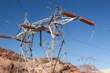 USA  Arizona and Nevada  Hoover Dam  Power Poles