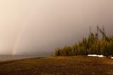 USA  Yellowstone National Park  Yellowstone Lake  Rainbow