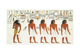 Procession of Egyptians  Supposed to Return from Captivity by Horus