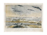 A View of the Bombardment of Fort Mchenry Near Baltimore
