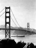 Pathfinder Passing under the Golden Gate Bridge  April 28  1949