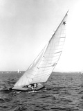 Star Class Boat Sail Number 1518 Heeled to Starboard