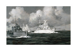 Two of the Biggest Ships of the Surrendered Navy Steam Down From
