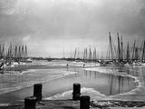 A Frozen Annapolis Harbor and Waterfront