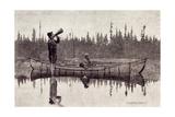 Maliseet Hunters Calling a Moose