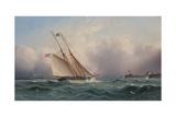 American Schooner Entering Portsmouth Harbor