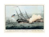 The Sinking of the Cumberland by the Iron Clad Merrimac Off Newp