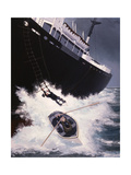 Boarding a Liberty Ship  1947