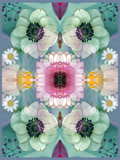 Composing  Symmetrical Arrangement of Flowers in Pastel Shades