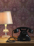 Phone  Old  Black  Standard Lamp  Nostalgia  Communication  Dial  Slice  Select  There Call Up