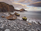 Stones on the Beach of Baja D'Abra  Sao Lourenco Peninsula  Madeira  Portugal
