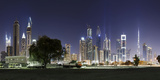 Dubai  Skyline at Night  Dubai Marina  United Arab Emirates
