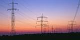 High-Voltage Poles  Transmission Line  Evening Mood