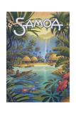 Greetings from Samoa Reproduction d'art par Kerne Erickson