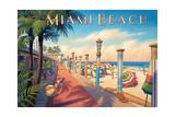 Greetings from Miami Beach Reproduction d'art par Kerne Erickson