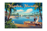 Naples Florida Reproduction d'art par Kerne Erickson