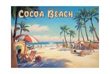Cocoa Beach Reproduction d'art par Kerne Erickson