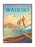 Surfride Waikiki Reproduction d'art par Kerne Erickson