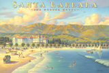 Potter Hotel Santa Barbara Reproduction d'art par Kerne Erickson