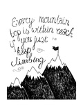 Hand Drawn Typography Poster Inspirational Quote for Card