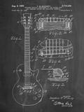 Gibson Les Paul Guitar Patent Reproduction d'art par Cole Borders