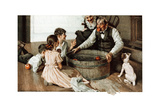 Bobbing for Apples (or Grandfather Bobbing for Apples with his Grandkids)