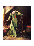 Treasures (or Lady in Green Dress; Attic Scene)