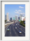Modern Road System Leading to the Commercial Centre  Tel Aviv  Israel  Middle East