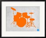 Orange Drum Set