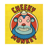 Monkey Wearing Hat with Cheeky Monkey Lettering