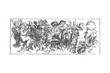 Ornate Flowering Garland with Cherubs