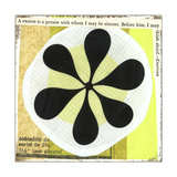 Collage of Black Flower in Circles