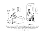 """I've got something from Hillary and something from Bill—also President Ob…"" - Cartoon"