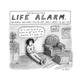 """""""TITLE: """"Introducing Life Alarm  for people who have fallen  but don't wan - New Yorker Cartoon"""