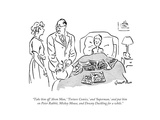 """""""Take him off 'Atom Man ' 'Torture Comics ' and 'Superman ' and put him on…"""" - New Yorker Cartoon"""