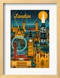 London  England - Retro Skyline