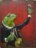 Tasteful Mr Toad - Dimensional Metal Wall Art