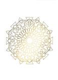 Gold Foil Mandala I
