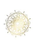 Gold Foil Mandala II Reproduction d'art par Chariklia Zarris